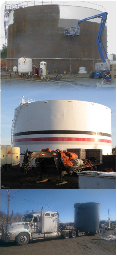 Field - tank lining and tank coating.  We offer On-site repairs, large and small.  Internal and external coatings and lining. Turnkey service available, including sandblasting, containment, environmental control.